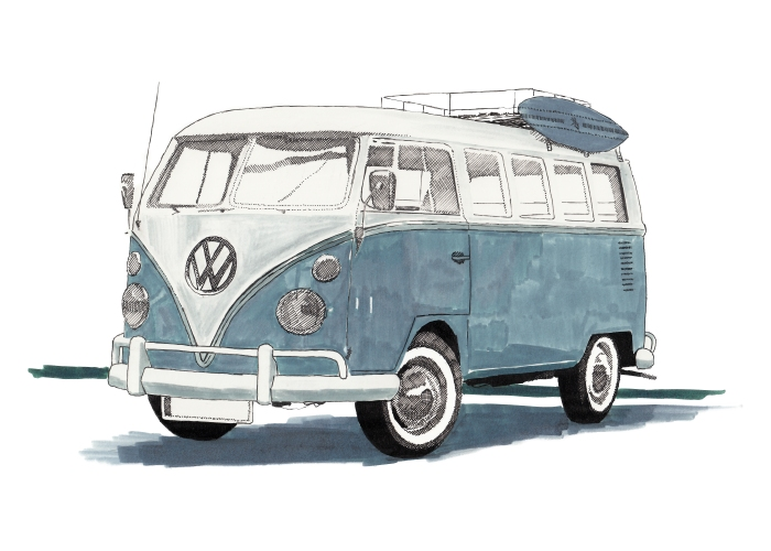 VW t1 drawing